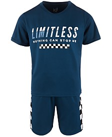 Ideology Little Boys Limitless Graphic T-Shirt & Checkerboard Shorts Separates, Created for Macy's
