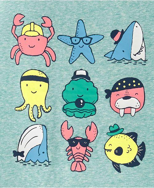 c655ec043 Carter's Toddler Boys 2-Pc. Sea Creature-Print T-Shirt & Plaid ...