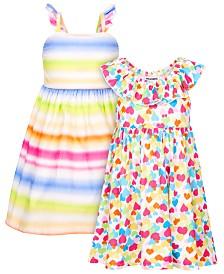 Blueberi Boulevard Little Girls 2-Pk. Floral-Print Dresses