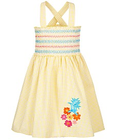 Good Lad Little Girls Smocked Gingham Sundress