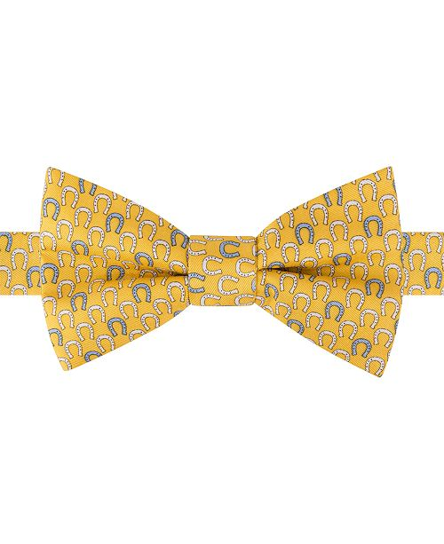 fc47341c950b Tommy Hilfiger Men's Derby Horseshoe To-Tie Silk Bow Tie & Reviews ...