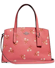 COACH Floral Print Charlie 28 Carryall