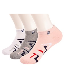 Fila Heritage Retro 3-Pk. No Show Ankle Socks