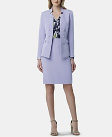 Tahari ASL Double-Breasted Jacket & Pencil Skirt