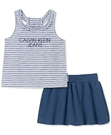 Calvin Klein Little Girls 2-Pc. Tank Top & Skort Set