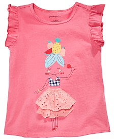 First Impressions Baby Girls Ruffle Sleeve Graphic Top, Created for Macy's