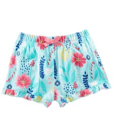 First Impressions Baby Girls Wild Flower-Print Cotton Shorts, Created for Macy's