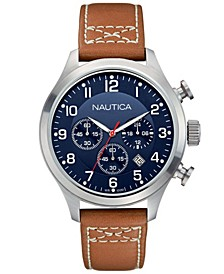 Men's N14699G BFD 101 Chrono Classic Tan/Navy Leather Strap Watch