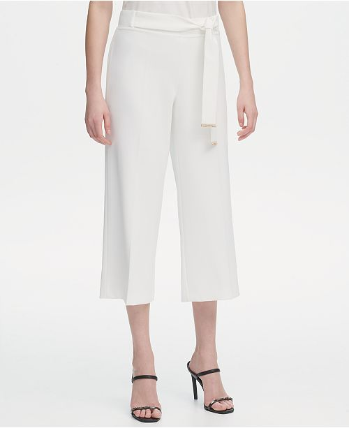 5d1d12a905ade Calvin Klein Belted Culottes & Reviews - Pants & Leggings - Women ...