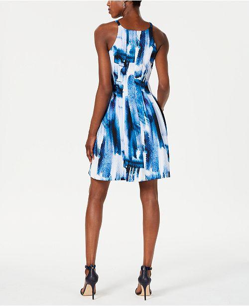 901d6d53a88c37 Vince Camuto Halter Scuba Fit & Flare Dress & Reviews - Dresses ...