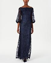 65ef87a0b3c7e Tadashi Shoji Off-The-Shoulder Lace Gown
