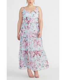 RACHEL Rachel Roy Plus Size Floral Tiered Maxi Dress