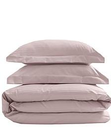 Silky Soft Long Staple Cotton Stripe Full/Queen Duvet Sets
