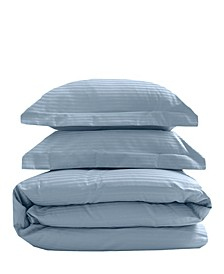 Silky Soft Long Staple Cotton Stripe King Duvet Sets