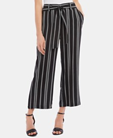 Karen Kane Striped Cropped Pull-On Pants