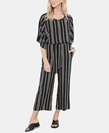 Karen Kane Striped Flare-Sleeve Top & Cropped Pull-On Pants