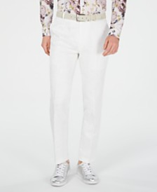 I.N.C. Men's Slim-Fit Paisley Pants, Created for Macy's