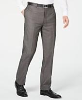 c6973243dc Calvin Klein Men's X Slim-Fit Stretch Charcoal Mini Grid Suit Pants
