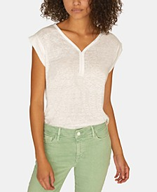 Laura V-Neck Solid T-Shirt