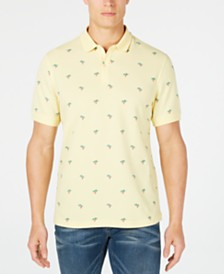 Club Room Men's Palm Tree Ditsy-Print Polo, Created for Macy's