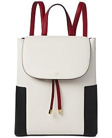 f3596f9335 Lauren Ralph Lauren Dryden Flap Leather Backpack