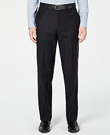 Men's Modern-Fit Stretch Midnight Blue Stripe Suit Pants