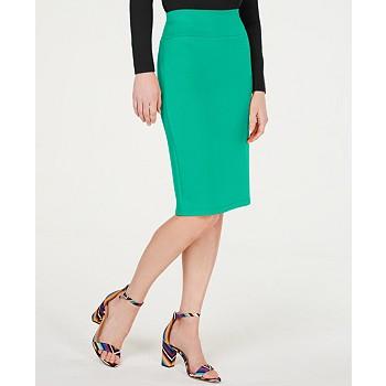 International Concepts Women's Solid Scuba Pencil Skirt