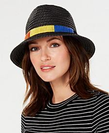 Textured-Braid Pork-Pie Fedora
