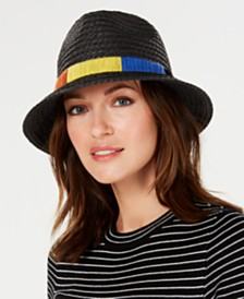 Nine West Textured-Braid Pork-Pie Fedora