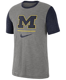 Nike Men's Michigan Wolverines Dri-FIT Slub Raglan T-Shirt