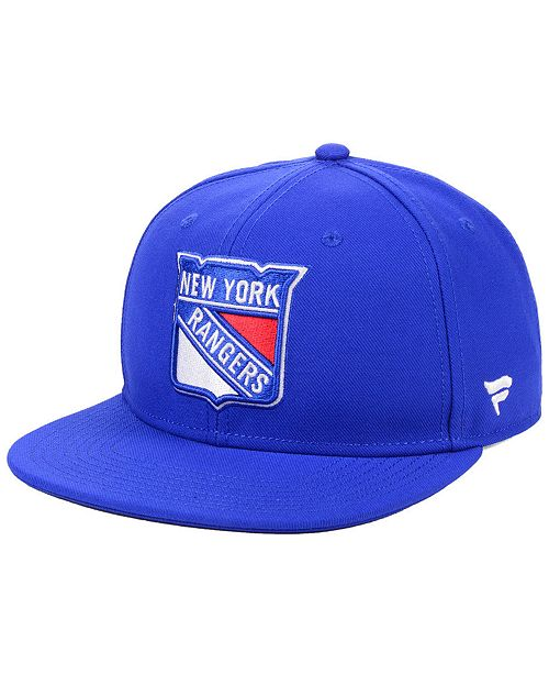 Authentic NHL Headwear New York Rangers Basic Fan Snapback Cap