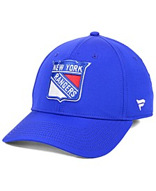 New York Rangers Basic Flex Stretch Fitted Cap
