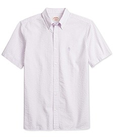 Men's Classic Fit Short-Sleeve Gingham Shirt