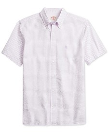 Brooks Brothers Men's Classic Fit Short-Sleeve Gingham Shirt