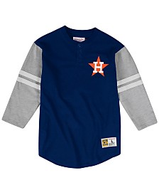 Mitchell & Ness Men's Houston Astros Heyday Henley T-Shirt