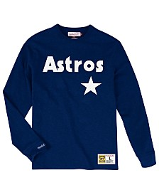 Mitchell & Ness Men's Big & Tall Houston Astros Slub Long Sleeve Top