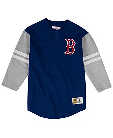 Mitchell & Ness Men's Big & Tall Boston Red Sox Heyday Henley T-Shirt