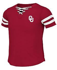 Colosseum Big Girls Oklahoma Sooners Lace Up T-Shirt