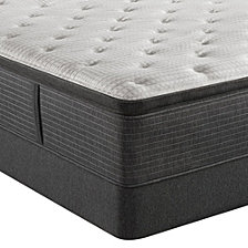 "Beautyrest Silver BRS900-C-TSS 16.5"" Plush Pillow Top Mattress Set - King, Created for Macy's"