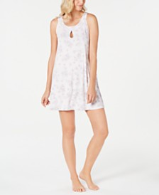 Charter Club Floral-Print Chemise Nightgown, Created for Macy's