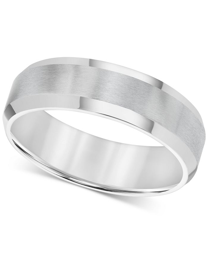 Triton - Men's Stainless Steel Ring, Smooth Comfort Fit Wedding Band