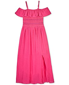 Big Girls Smocked Ruffle Dress
