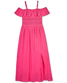 BCX Big Girls Smocked Ruffle Dress