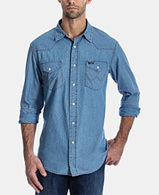 Men's Authentic Regular-Fit Dobby Western Shirt