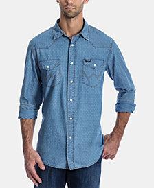 Wrangler Men's Authentic Regular-Fit Dobby Western Shirt