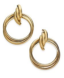 Thalia Sodi Gold-Tone Door Knocker Earrings, Created for Macy's