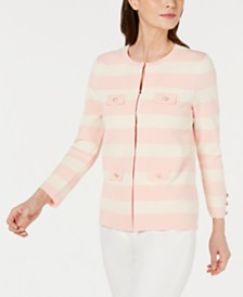 Anne Klein Striped Cardigan