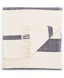 "Jurnee Blue/ Cream Stripe Throw 50"" X 60"""