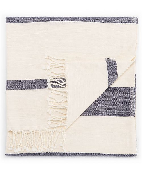"Jaipur Living Jurnee Blue/ Cream Stripe Throw 50"" X 60"""