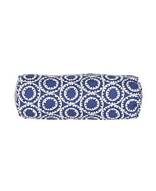 """Jaipur Living Ring A Bell Blue/White Geometric Indoor/Outdoor Throw Pillow 7"""" x 20"""""""